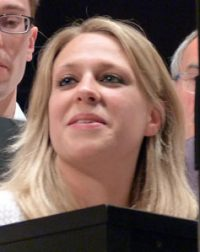 """Die neue Chorleiterin des MGV """"Freundschaft"""": Frau Bettina Gerlach."""